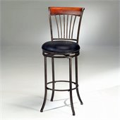 Hillsdale Riley 30 Inch Swivel Bar Stool in Black and Cherry