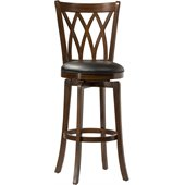 Hillsdale Mansfield 30 Swivel Bar Stool in Brown Cherry
