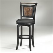 Hillsdale Norwood 26.5 Inch Swivel Black Counter Height Bar Stool