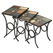 Hillsdale Pompei Slate Top Nesting Tables