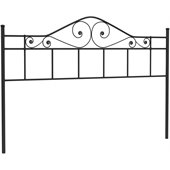Hillsdale Harrison King Size Metal Headboard in Black