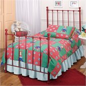 Hillsdale Molly Red Twin Metal Panel Bed