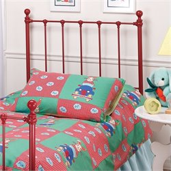 Hillsdale Molly Red Twin Metal Headboard
