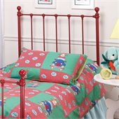 Hillsdale Molly Twin Metal Headboard in Red