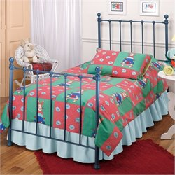 Hillsdale Molly Twin Metal Bed in Blue Finish