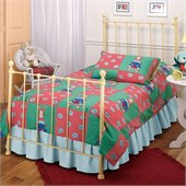 Hillsdale Molly Kids Twin Metal Panel Bed in Yellow