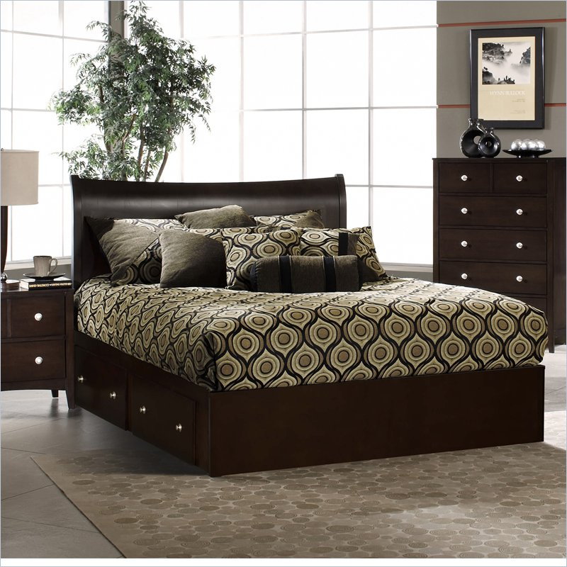 Furniture > Bedroom Furniture > Storage Bed > Tiburon Bentwood ...