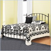 Hillsdale Bel Air Metal Panel Bed in Black Gold Finish