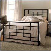 Hillsdale Terrace Metal Panel Bed in Black Finish