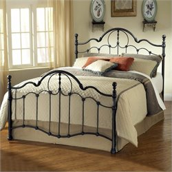 Hillsdale Venetian Metal Panel Bed in Old Bronze Finish