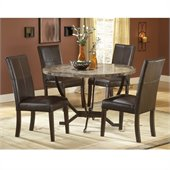 Hillsdale Monaco Round Casual Dining Table in Matte Espresso Finish
