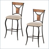 Hillsdale Pacifico 30'' Non-Swivel Bar Stools (Set of 2)