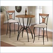 Hillsdale Pacifico 3-Piece Bar Height Dining Set