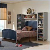 Hillsdale Universal Youth Metal Bed with Wall Storage 3 Piece Bedroom Set