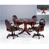 Hillsdale Warrington 5 Piece Game Set in Cherry Finish