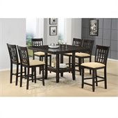 Hillsdale Tabacon 7 Piece Counter Height Dining Set in Cappuccino