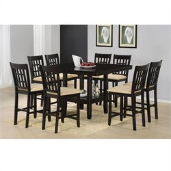 Hillsdale Tabacon 9 Piece Counter Height Dining Set in Cappuccino