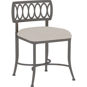 Hillsdale Furniture Canal Street Vanity Stool in Pewter