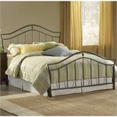 Hillsdale Imperial Metal Panel Bed in Black Finish