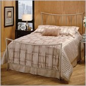 Hillsdale Eva Metal Panel Bed in Nickel Finish
