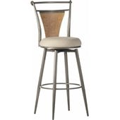 Hillsdale London 30 Swivel Metal Bar Stool in Champagne