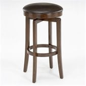 Hillsdale O'Shea 25 Backless Swivel Counter Stool in Brown Cherry