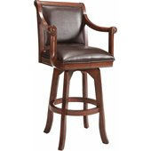 Hillsdale Palm Springs 30 Swivel Bar Stool in Medium Brown Cherry