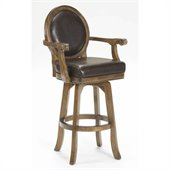 Hillsdale Warrington 30 Swivel Bar Stool in Rich Cherry