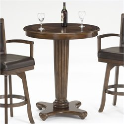 Hillsdale Ambassador Round Bar Height Pub Table in Rich Cherry