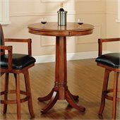 Hillsdale Park View Round Bar Height Pub Table in Medium Brown Oak