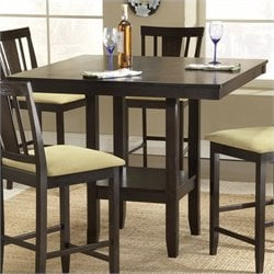 Hillsdale Arcadia Square Counter Height Casual Dining Table in Espresso Finish