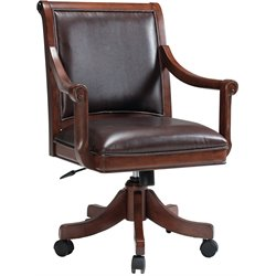 Hillsdale Palm Springs Arm Chair in Medium Brown Cherry