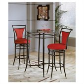 Hillsdale Cierra Mix n' Match Round Glass Top Pub Table