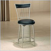 Hillsdale Benson 30 Inch Black Vinyl Swivel Bar Stool