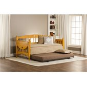 Hillsdale Dalton Daybed in Medium Oak Finish with Roll-Out Trundle