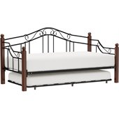 Hillsdale Madison Four Post Metal Daybed with Trundle