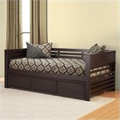 Hillsdale Miko Wood Daybed with Trundle in Espresso Finish
