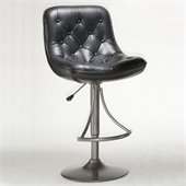 Hillsdale Aspen Adjustable Bar Stool in Oyster Grey