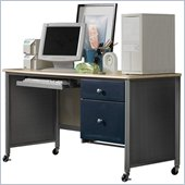 Hillsdale Universal Youth Student Desk in Silver and Navy