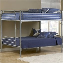Hillsdale Universal Youth Full over Full Metal Bunk Bed in Silver