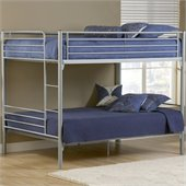Hillsdale Universal Youth Full over Full Metal Bunk Bed in Silver Finish