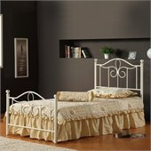 Hillsdale Westfield Metal Poster Bed 5 Piece Bedroom Set in Off White Finish