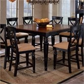 Hillsdale Northern Heights Counter Height Dining Table with Extension in Black and Cherry