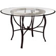 ADD TO YOUR SET: Hillsdale Pompei Metal Casual Dining Table in Black Gold Finish