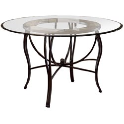 Hillsdale Pompei Metal Casual Dining Table in Black Gold Finish