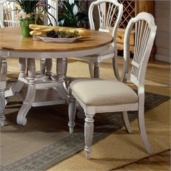 Hillsdale Wilshire Fabric Side Chair in Antique White (Set of 2)