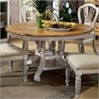 ADD TO YOUR SET: Hillsdale Wilshire  Round Casual Dining Table in White Finish