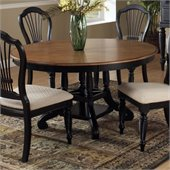 Hillsdale Wilshire Casual Dining Table in Black and Cherry Finish