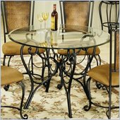Hillsdale Milan Casual Dining Table with Glass Top