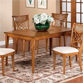 Hillsdale Glenmary  Rectangle Dining Table with Wood Top in Distressed Oak Finish